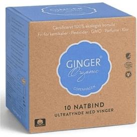 Ginger Organic Podpaski na noc, 10 szt.