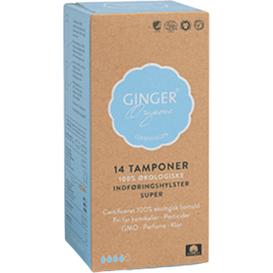 Ginger Organic Tampony z aplikatorem - Super, 14 szt.