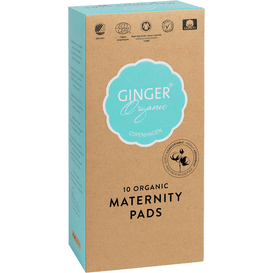 Ginger Organic Podkłady poporodowe 10 sztuk, 10 szt.