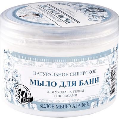 Białe mydło syberyjskie do ciała i włosów Kąpiel Agafii Bania Agafii