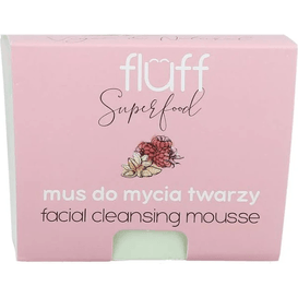 Fluff Myjący mus do twarzy - Maliny z migdałami, 50 g