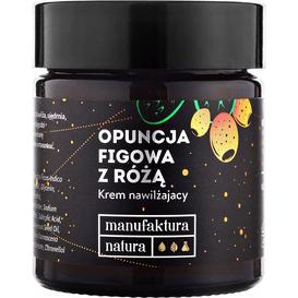 Manufaktura Natura Krem nawilżający - Opuncja figowa z różą, 30 ml