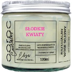 Ooroc Świeca sojowa mała w słoiku - Słodkie kwiaty, 120 ml