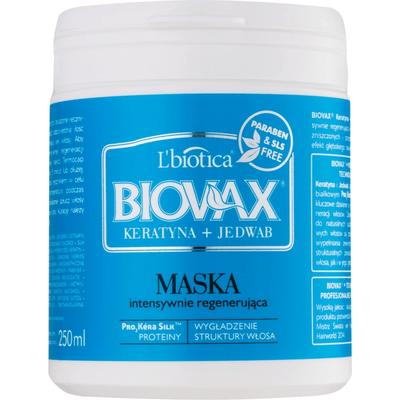 Regenerująca maska do włosów - Keratyna i jedwab Lbiotica