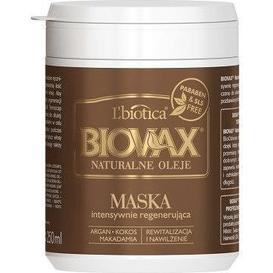 Lbiotica Regenerująca maska do włosów - Argan macadamia i kokos, 250 ml