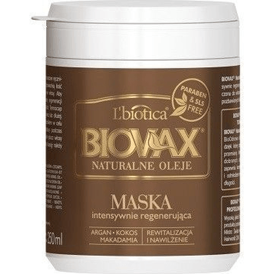 Regenerująca maska do włosów - Argan macadamia i kokos Lbiotica