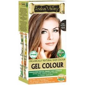 Indus Valley Żelowa farba do włosów - Ciemny blond, 120 ml