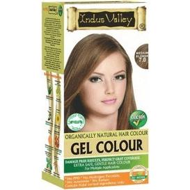 Indus Valley Żelowa farba do włosów - Średni Blond, 120 ml