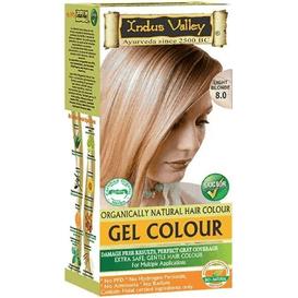 Indus Valley Żelowa farba do włosów - Jasny blond, 120 ml