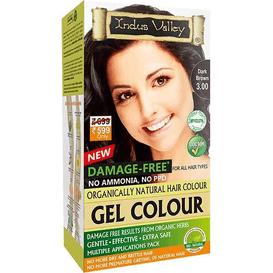Indus Valley Żelowa farba do włosów - Ciemny brąz, 120 ml