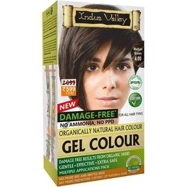 Indus Valley Żelowa farba do włosów - Średni brąz, 120 ml
