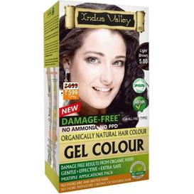 Indus Valley Żelowa farba do włosów - Jasny brąz, 120 ml