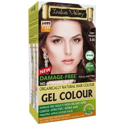 Żelowa farba do włosów - Miedziany mahoń Indus Valley