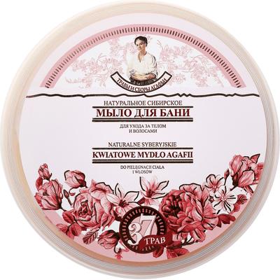 Kwiatowe mydło syberyjskie do ciała i włosów Kąpiel Agafii Bania Agafii