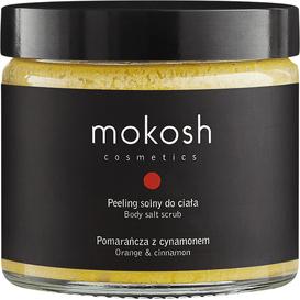 Mokosh Peeling solny do ciała - Pomarańcza z cynamonem, 250 ml
