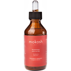 Mokosh Rozświetlający eliksir do ciała - Pomarańcza z cynamonem, 100 ml