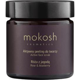 Mokosh Aktywny peeling do twarzy - Róża z jagodą, 60 ml