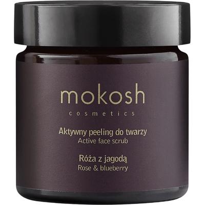 Aktywny peeling do twarzy - Róża z jagodą Mokosh