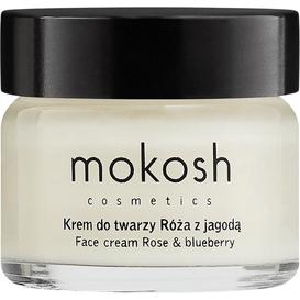 Mokosh Ujędrniający krem do twarzy anti-aging - Róża z jagodą, 15 ml