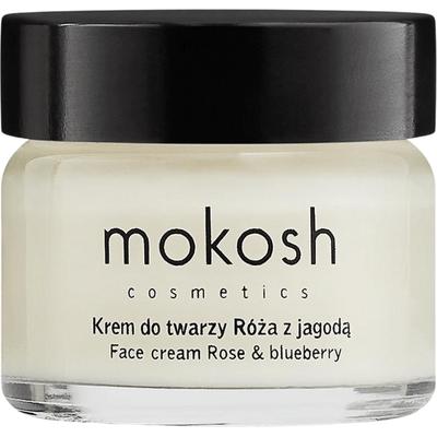 Ujędrniający krem do twarzy anti-aging - Róża z jagodą, 15 ml Mokosh
