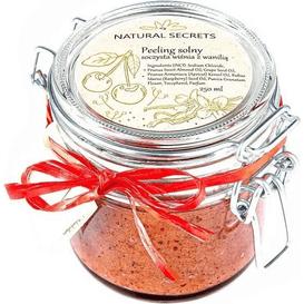 Natural Secrets Solny peeling - wiśnia z wanilią, 250 g
