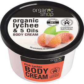 Organic Shop Mus do ciała - Różowe liczi i 5 olejków, 250 ml