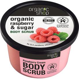 Organic Shop Scrub do ciała - Malinowy krem, 250 ml