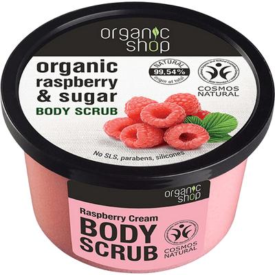 Scrub do ciała - Malinowy krem Organic Shop