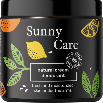 Naturalny dezodorant w kremie - Sunny Care E-FIORE