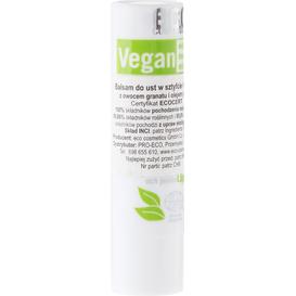 Eco Cosmetics Wegańska pomadka do ust z owocem granatu i olejem jojoba, 4 g