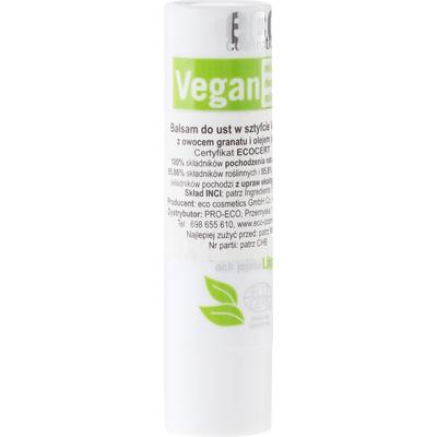 Wegańska pomadka do ust z owocem granatu i olejem jojoba Eco Cosmetics