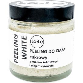 La-Le Kosmetyki Cukrowy peeling do ciała White z wiórkami kokosowymi, 120 ml