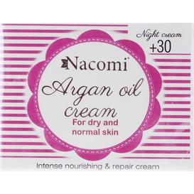 Nacomi Krem na noc arganowy z kwasem hialuronowym +30 lat, 50 ml