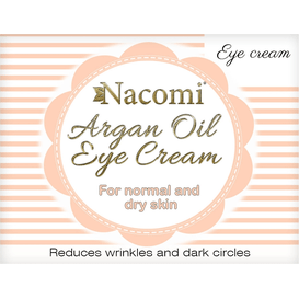 Nacomi Naturalny krem pod oczy arganowy, 15 ml