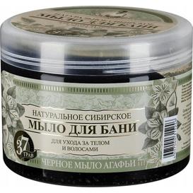 Kąpiel Agafii Bania Agafii Czarne mydło syberyjskie do ciała i włosów, 500ml