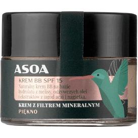 Asoa Przeciwsłoneczny krem BB do twarzy - SPF 15, 15 ml