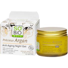 So Bio Przeciwzmarszczkowy żel na noc z olejem arganowym, 40 ml
