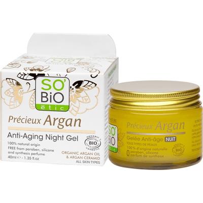 Przeciwzmarszczkowy żel na noc z olejem arganowym So Bio