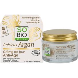 So Bio Przeciwzmarszczkowy krem na dzień z olejem arganowym, 50 ml