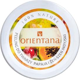 Orientana Kremowy peeling do twarzy - Papaja i żeńszeń indyjski, 50 ml