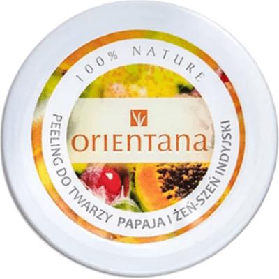 Kremowy peeling do twarzy - Papaja i żeńszeń indyjski Orientana