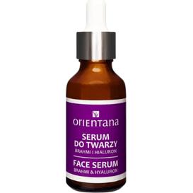 Orientana BIO serum do twarzy - Brahmi i kwas hialuronowy, 30 ml