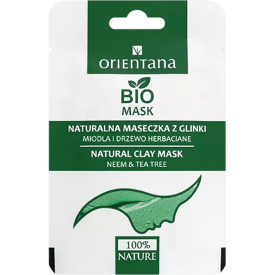 Maseczka z glinki - Neem i drzewo herbaciane Orientana