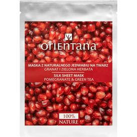 Orientana Maska tkaninowa - Granat i zielona herbata