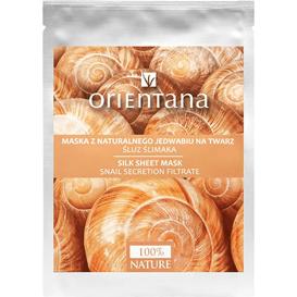 Orientana Maska tkaninowa z naturalnego jedwabiu - Śluz ślimaka