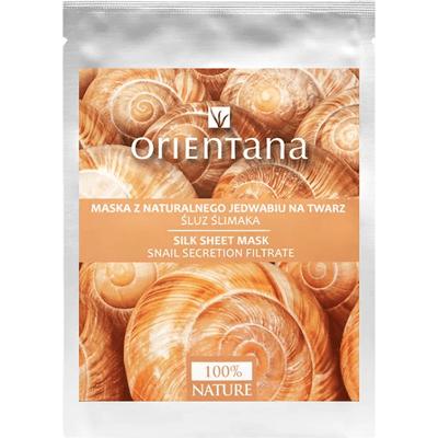Maska tkaninowa z naturalnego jedwabiu - Śluz ślimaka Orientana