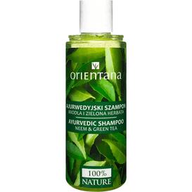 Orientana Ajurwedyjski szampon - Neem i zielona herbata, 210 ml