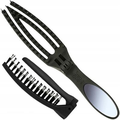 Składana szczotka Finger Brush z lusterkiem - On The Go Combo Olivia Garden