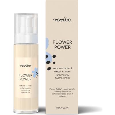 Regulujący hydro krem - Flower Power Resibo