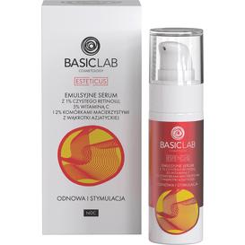 BasicLab Emulsyjne serum z 1% czystego retinolu i komórkami macierzystymi - odnowa i stymulacja, 30 ml